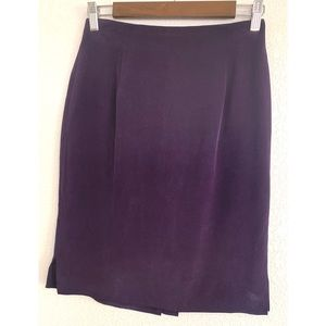 Dana Buchman purple pencil skirt size 8 petite